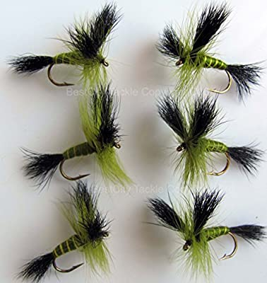 Fly Fishing MAYFLY 6 PACK- GREEN DRAKE Size 10 Trout Flies UK May fly PACK#57 by BestCity Tackle