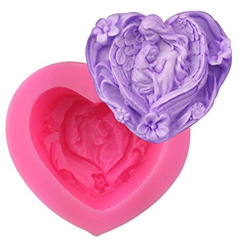 Liebe Herzform Engel Figur Fondantform Silikon Seife Schokolade Sugarcraft Backwerkzeug Kuchenform 1 Stücke