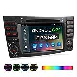 XOMAX Autoradio passend für Mercedes W211 W219 W463 mit Android 6.0.1 I 2GB RAM I WiFi, DAB+ Support, GPS Navigation, Bluetooth Freisprecheinrichtung, Bildschirm Touchscreen, DVD, CD, USB, SD, 2 DIN