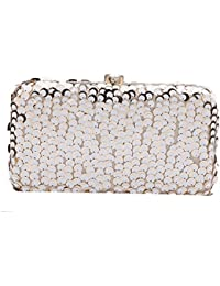 VA by Vanshika Ahuja Women's Clutch (White Gold)