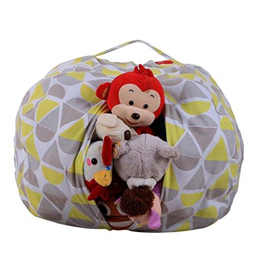 squarex Kinder Gefülltes Plüsch Spielzeug Aufbewahrung Sitzsack Soft Pouch Streifen Stoff Stuhl