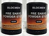 Save! TWO Pre-Shave Powder Stick Derma Bloc by Blocmen by Shavetronics