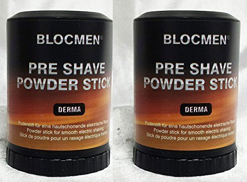 Save! TWO Pre-Shave Powder Stick Derma Bloc by Blocmen by Shavetronics - Pre Shave Powder Stick