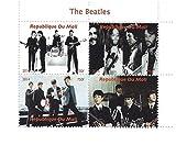 I Beatles vivono sul foglio di francobolli palco per i collezionisti - 4 francobolli - 2014 / Mali / 750F - Stampbank - amazon.it