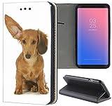 Samsung Galaxy S3 / S3 Neo Hülle Premium Smart Einseitig Flipcover Hülle Samsung S3 Neo Flip Case Handyhülle Samsung S3 Motiv (1466 Hund mit großem Ohr Braun)