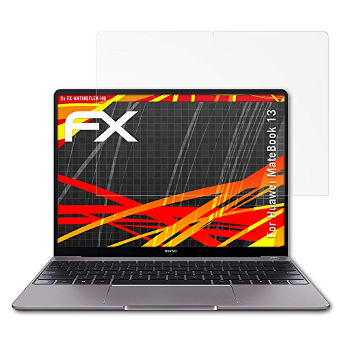 atFolix Schutzfolie kompatibel mit Huawei MateBook 13 Bildschirmschutzfolie, HD-Entspiegelung FX Folie (2X)