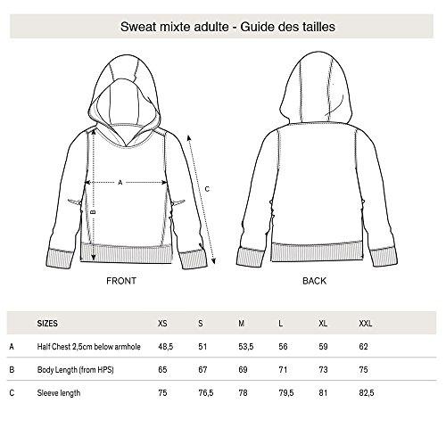 Sweat à capuche 3D BOULEDOGUE HIP HOP en Réalité Augmentée - PIXEL EVOLUTION - Femme Noir