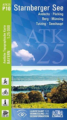 Preisvergleich Produktbild ATK25-P10 Starnberger See (Amtliche Topographische Karte 1:25000): Andechs, Pöcking, Berg, Münsing, Tutzing, Seeshaupt (ATK25 Amtliche Topographische Karte 1:25000 Bayern)