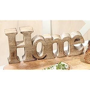 Schriftzug Home aus Holz in natur Breite 25 cm