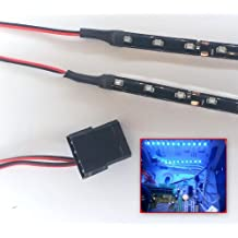 Carcasa de Pc Luz Modding Kit (2-20cm Tiras) Molex - Azul Brillante