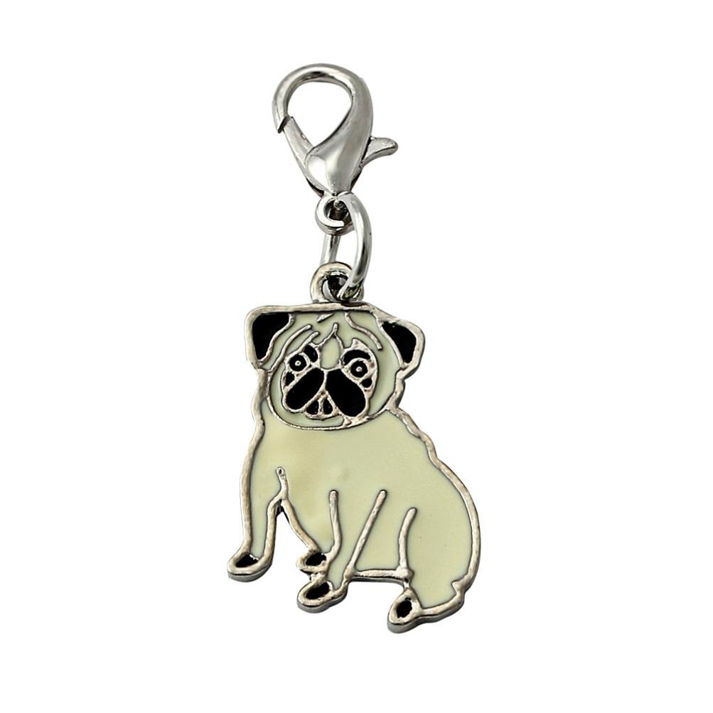 SOMESUN Pet Dog Lovely Jewelry Pendants Pugs Dog Tag Disc Pet ID Disk Enamel Accessories Collar Necklace Pendant