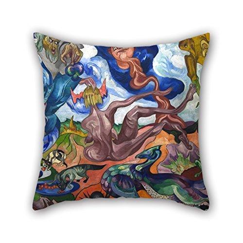 Slimmingpiggy Oil Painting Stanisław Ignacy Witkiewicz - Tworzenie świata Pillowcase ,best For Study Room,bar,floor,boys,kids Girls,car Seat 18 X 18 Inches / 45 By 45 Cm(two Sides)