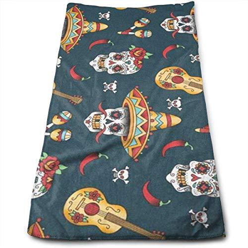 al Sugar Skulls 100% Baumwolle, lichtbeständig, saugfähig, maschinenwaschbar, Hotelqualität, weiches saugfähiges Handtuch ()
