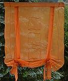 Gustav Gerster Tenda avvolgibile Tenda avvolgibile con Fiocchi, Asta, Disco Bistro Tenda della Finestra e Porta behang Panne AUX Voile Rustico 60x 90cm Arancione