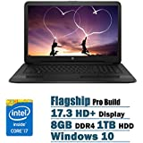 Newest HP Flagship High Performance 17.3 Inch HD+ Laptop PC, Intel Core I7-7500U Dual-Core, 2.70 GHz, 8GB DDR4, 1TB HDD, DVD RW, WIFI, Windows 10 (Black)