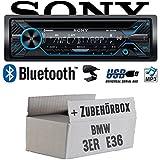 BMW 3er E36 - Sony MEX-N4200BT | Bluetooth CD/MP3/USB Autoradio - Einbauset