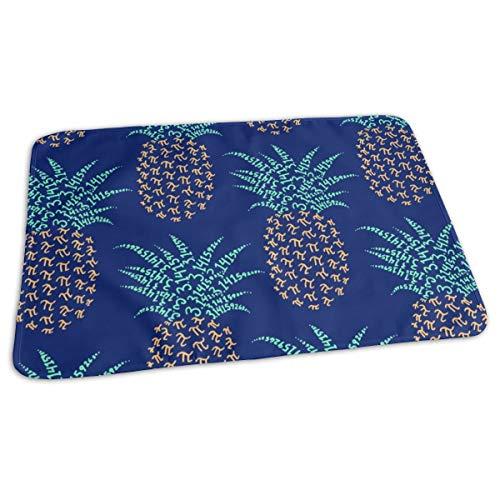 Pi-napple Pineapple - Hawaiian Nerd Shirt Baby Portable Reusable Changing Pad Mat 19.7x 27.5 inch