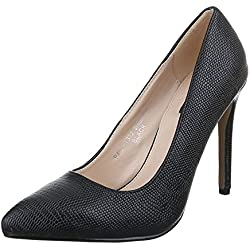 Damen Schuhe, RMD1312, PUMPS, KLASSISCHE HIGH HEELS, Synthetik in hochwertiger Lederoptik , Schwarz, Gr 41