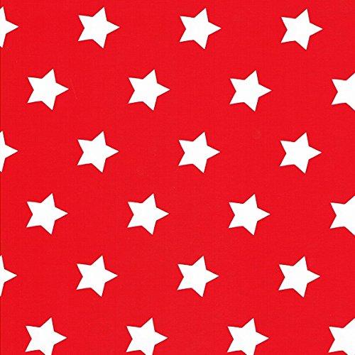 Toile cirée nappe Mètre Noël étoiles Motif Taille au choix dans Carré Rond Ovale (100 cm Rond, m90352 Rouge)
