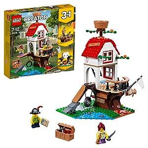 LEGO Creator - Tesoros de la Casa Árbol, Juguete de Construcción de Piratas para Construir 3 en 1, Incluye Minifiguras, Barco Pirata y Aventuras (31078)