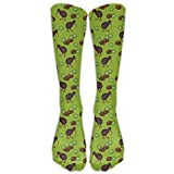 ruishandianqi Unisex Kiwi Birds and Kiwi Fruits Below Knee Socks Tube Stockings Mid Calf BT Socks Long Crew Socks