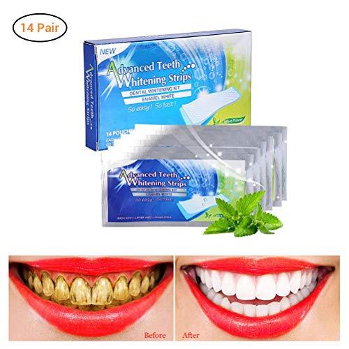 28 Bleaching Strips Zahnweißstreifen, Professionelles Bleaching für Weiße Zähne Zahnweiss,Zahnweiß Streifen, Bleaching Stripes, White Stripes, Zahnauhellung Streifen
