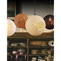 Illuminazione jiaily Rattan Arte Ciondolo lampada Ristorante Droplight maglia a mano piccolo Ciondolo lampada Coffee Shop appeso illuminazione , 220-240v-legno - Vaso Appeso Catena