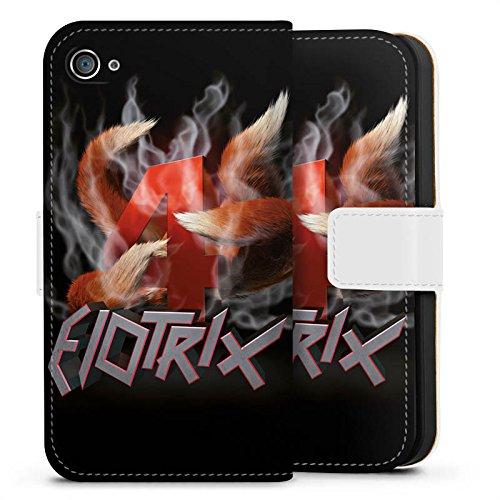 Apple iPhone X Silikon Hülle Case Schutzhülle Elotrix Fanartikel Merchandise ElotrixHD Sideflip Tasche weiß