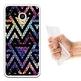 WoowCase Alcatel 1C DUAL SIM Hülle, Handyhülle Silikon für [ Alcatel 1C DUAL SIM ] Raum Galaxie Geometrische Dreiecke Handytasche Handy Cover Case Schutzhülle Flexible TPU - Transparent