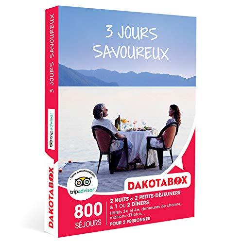 DAKOTABOX - 3 jours savoureux - Coffret Cadeau Séjour Gourmand - 2 nuits avec...