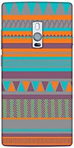 Snoogg Aztecprint Blue And Orange Solid Snap On - Back Cover All Around Prote...