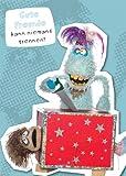 Postkarte A6 +++ WIWALDI von modern times +++ GUTE FREUNDE - TRAUDL & HORST-PFERDINAND +++ MODERN TIMES bigSmile Entertainment GmbH/WIWALDI