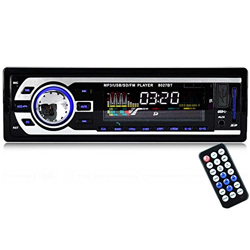 Autoradio Bluetooth /Autoradio Usb/Car 12V / 24V Bluetooth Audio /Auto Stereoanlage UKW Radio /MP3 Audio Player Lautsprecher / Auto MP3/Tuner Handsfree Anrufe beim Support mit USB SD Anschluss Fernbedienung
