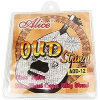 Musiclily Alice Nylon y Entorchado plateado 12 Cadena Oud Cuerdas