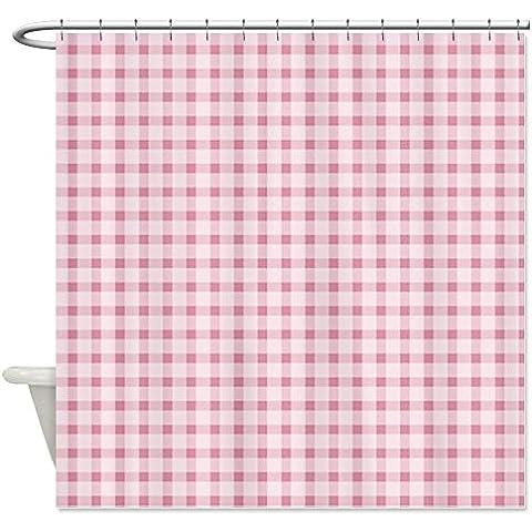 CafePress Tenda da doccia a quadretti, colore: rosa, White,