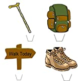 Novelty Hillwalker / Rambler Mix 12 Edible Stand Up wafer paper cake toppers birthday