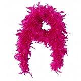 Federboa / Federschal Deluxe pink / rosa - Feder Boa für 20er Jahre Party, Karneval, Fasching, Charleston , Varieté - ca. 200 cm lang - ca . 100 gr.