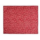 casa pura® Gartentischdecke Bianca | rot mit verspieltem Blumenmuster | Weichschaum Tischdecke für Garten und Balkon | rechteckig 130 cm x 160 cm