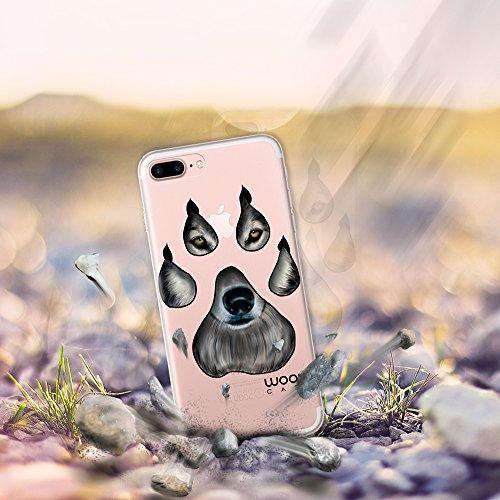 iPhone 7 Plus Hülle, WoowCase® [ Hybrid ] Handyhülle PC + Silikon für [ iPhone 7 Plus ] Französische Bulldogge Tier Mehrfarbige Design Handytasche Handy Cover Case Schutzhülle - Transparent Hybrid Hülle iPhone 7 Plus H0012