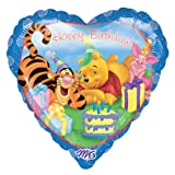 Folienballon Winnie Pooh Happy Birthday
