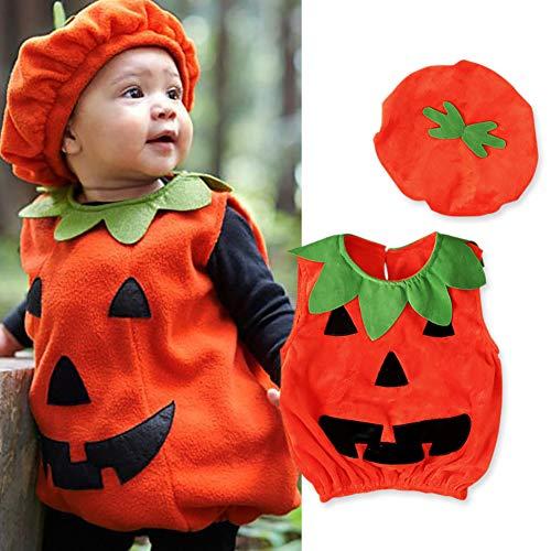 AMOWON Halloween Costumes Toddler Newborn Baby Pumpkin Patch Cutie Dress Up Halloween Dressing KostüM Kinder Cosplay Geburtstag Urlaub Phantasie Party Geschichteten Kleider Kind Kleider (Pumpkin Patch Kostüm)