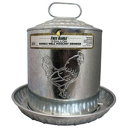 Harris Farms Llc Haustier 4212 2 Gallon Doppel Metal Wall K-ken-Wasser-Brunnen