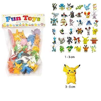 24pcs Pokemon mignon Mini figure 2-3cm Rendom jouets Monster Mini Action Figure parti sac Filler by New Celebration ltd por New Celebration ltd