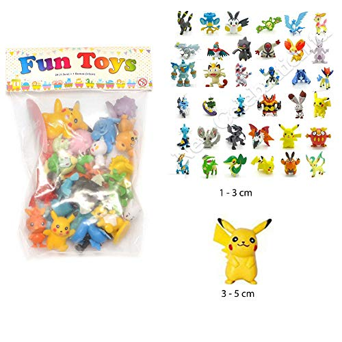 24pcs Pokemon mignon Mini figure 2-3cm Rendom jouets Monster Mini Acti