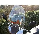 Wohnstyle24 Universelles Windschutzschild 003 transparent Windschild für Roller Motorrad Mofa Motorroller Quad ATV Schutzscheibe Windschutz transparent