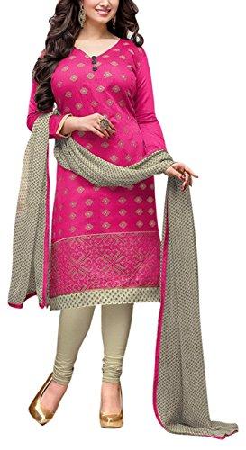 Applecreation Women's Dress Material (DRD49005_Magenta)