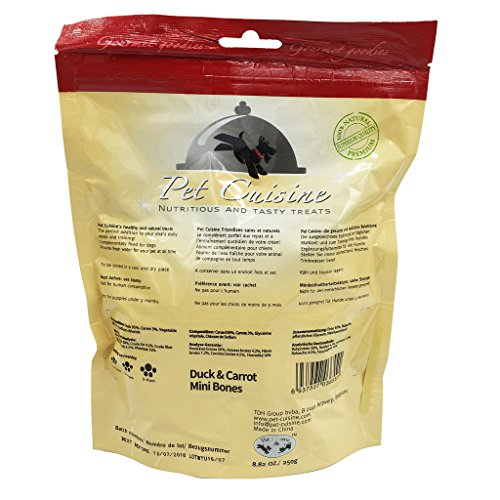 Pet-Cuisine-Dog-Training-Snacks-Puppy-Chews-Natural-Treats-Duck-Carrot-Mini-Bones-250g