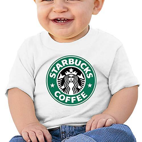Kinder Baby Mädchen Jungen Sommer T-Shirt Starbucks Logo T Shirt Shirts Für Kleinkind Mädchen Jungen Kurzhülse Weiß 2 T Camo Thermal Sweatshirt