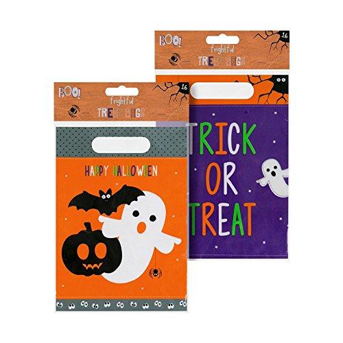 16 Pack Halloween Party Taschen - Gut für Süßes oder Saures (ITP 48313) (Süßes Oder Saures)