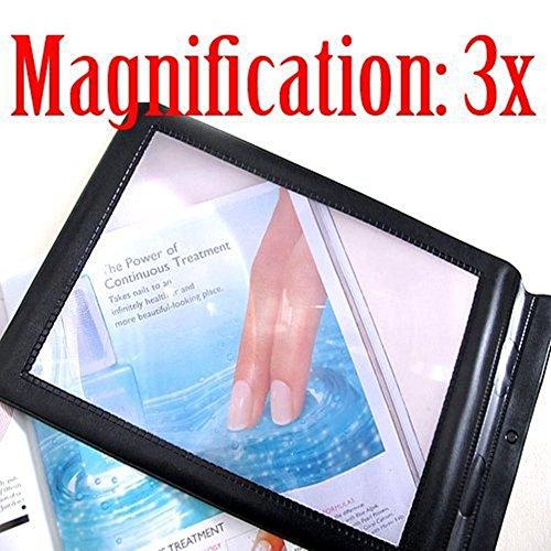Distinct A4 Vollständige Seite 3x Lupe Blatt große Lupe Buch Lesehilfe Linse